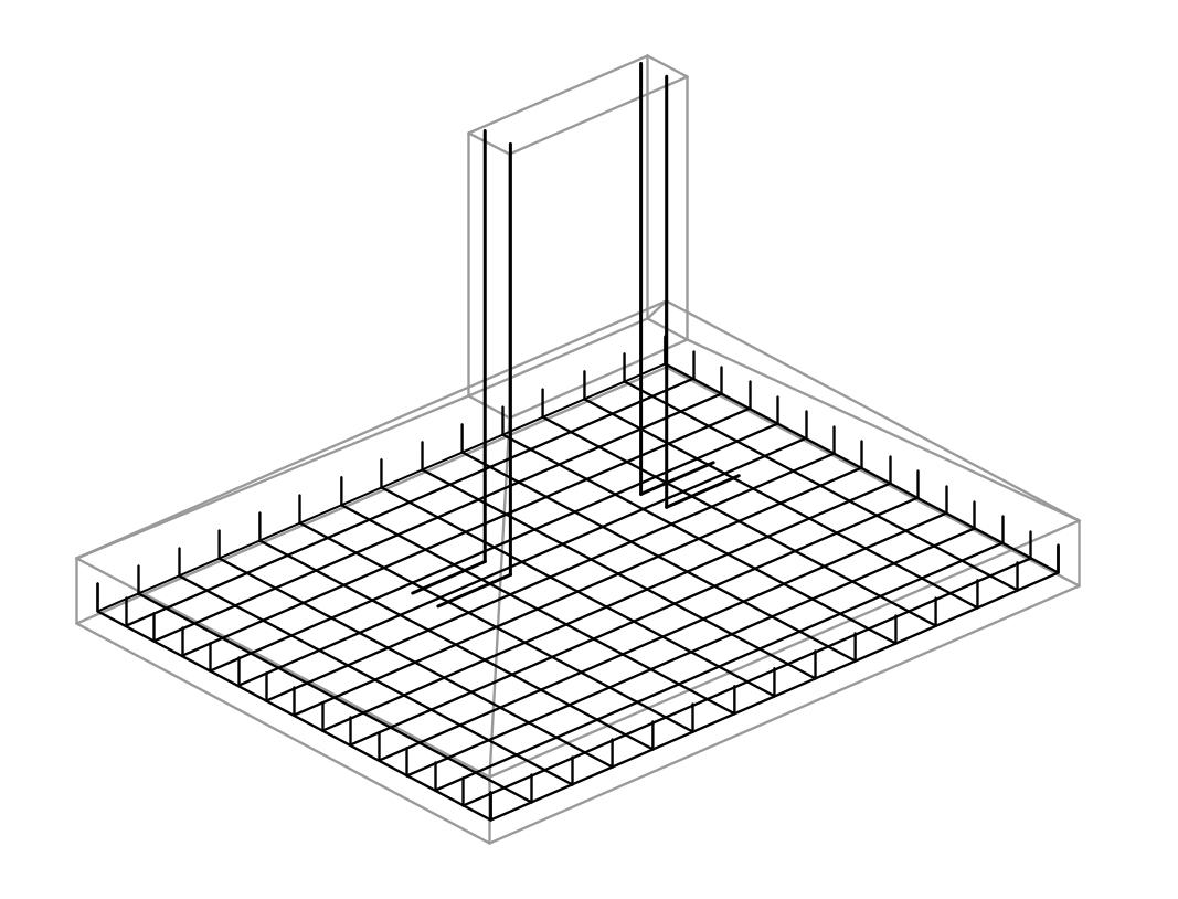 Dimensionamento de Sapata - Exercício Resolvido - Armadura 3d