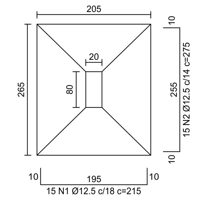 Dimensionamento de Sapata - Exercício Resolvido - Detalhamento da Armadura
