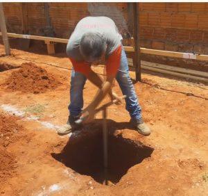 Estaca Broca Escavação