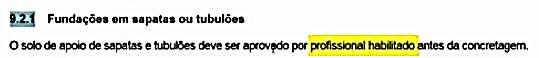 nbr 6122 2019 fundações em sapatas ou tubulões