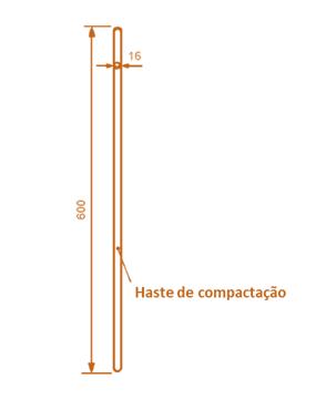 haste de compactação nbr nm67