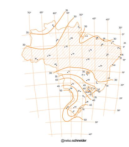 mapa de isopletas